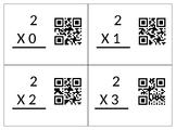 QR Code Task Cards for multiplication (2-11)