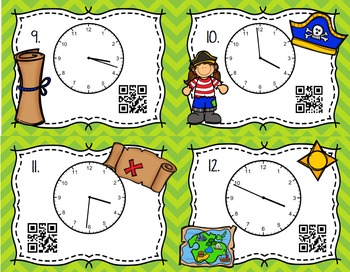QR Code Math Center Telling Time to the Minute