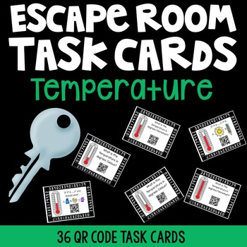 QR Code Temperature Task Cards {Escape Room}