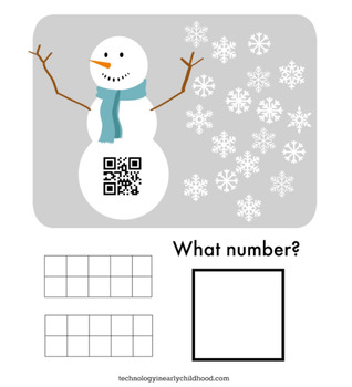 QR Codes for Counting the Teen Numbers: Winter Snowman Theme
