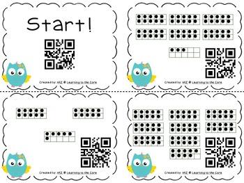 QR Code Ten Frames Numbers 1-120