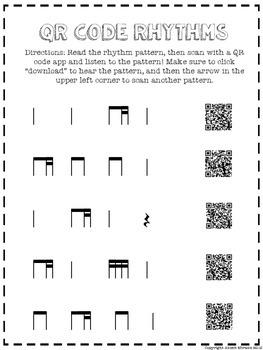 QR Code Ti-Tika Worksheet Freebie