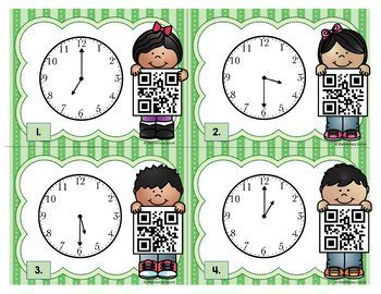 QR Code Time Task Cards - QR Codes Scoot Task Cards