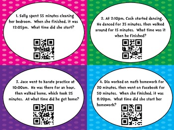 QR Code - Time Word Problems