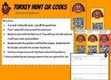 QR Code Turkey Scavenger Hunt (Addition and Subtraction wo