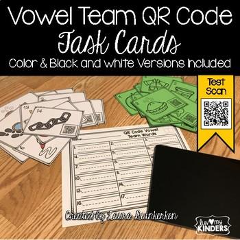 QR Code Vowel Team Sounds Activity Task Cards