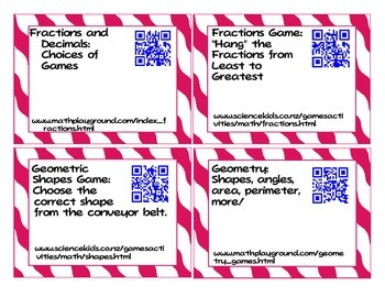 QR Code Website Cards: Links to Educational Websites (Scan and Go!)