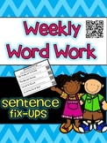 Sentence Editing Word Work with QR Codes