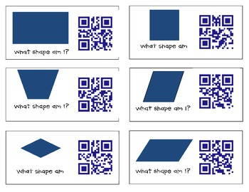 QR Code What Quadrilateral Am I? Game