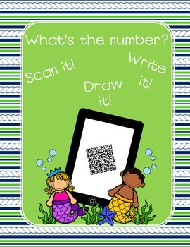 QR Code What's the Number Mermaid Theme 2 for 1 Deal!