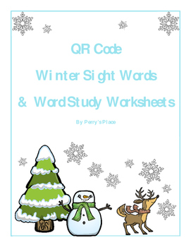 Fun with Words: QR Code Winter Sight Words & Word Study Wo