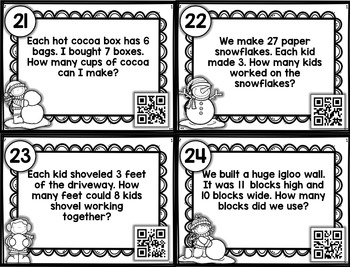 Multiplication Word Problems QR Code