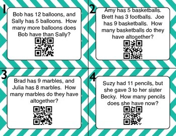 QR Code Word Problem Task Cards