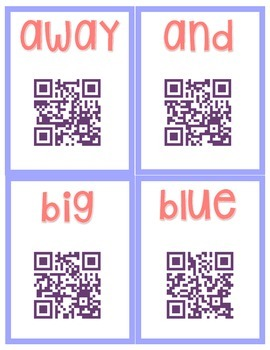 QR Code Word Wall: 43 Sight Words with QR  Codes