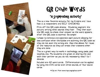 QR Code Words {A Segmenting Activity}