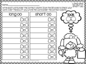 QR Code Write and Scan Long and Short OO Sounds