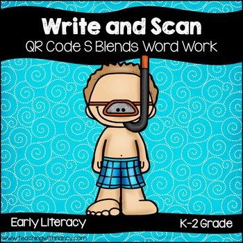 QR Code: Write and Scan S Blend Words Set 2