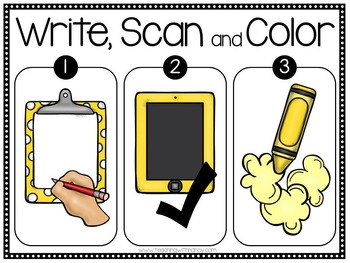QR Code: Write and Scan S Blend Word Work Set 1 & 2