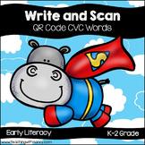 QR Code Write and Scan Super Hero Hippo CVC Words