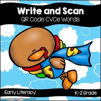 QR Code Write and Scan Super Hero Turkey CVCe Words