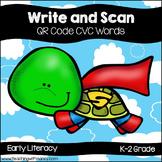 QR Code Write and Scan Super Hero Turtle CVC Words