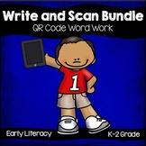 QR Code: Write and Scan Word Work Bundle