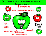 QR Code Write the Room: Apple Upper/Lowercase and Beginning Sound Match