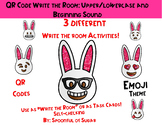 QR Code Write the Room: Bunny Emojis Beginning sounds and