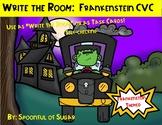 QR Code Write the Room: Frankenstein Themed CVC words