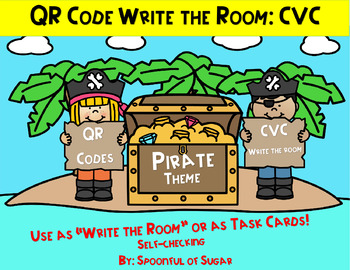 "QR Code ""Write the Room"" Fun: CVC words"