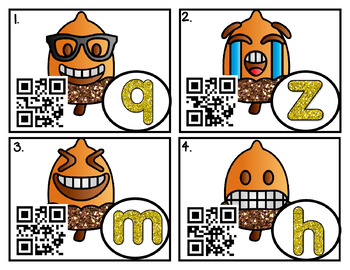 """QR Code """"Write the Room"""" Fun: Upper/Lowercase and Beg. Sound"""