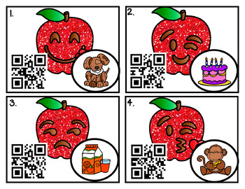 QR Code Write the Room Fun: Upper/lowercase and Beg. Sound