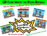 QR Code Write the Room: Short Vowel Super Hero Bundle