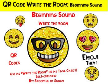 "QR Code ""Write the Room"": Smiley face Emoji Beg. Sound"