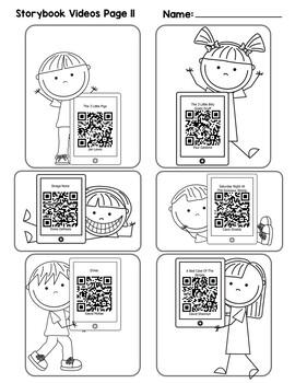 QR Code for Listening Center  {QR Code Reading} {QR Codes for Kindergarten}