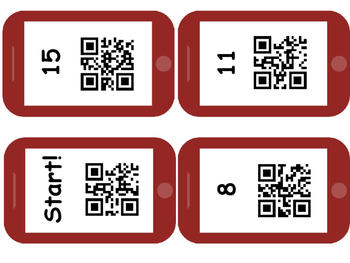 QR Code scavenger Hunt Math Facts within 20