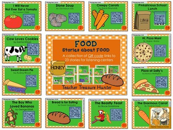 QR Code stories - 23 stories about FOOD ~ Great for centers!
