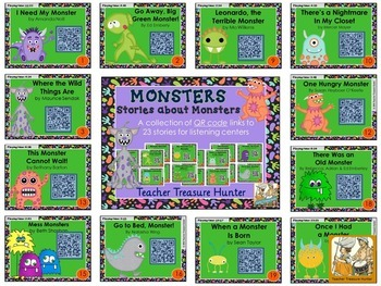 QR Code stories - 23 stories about MONSTERS ~ Great for centers!