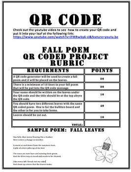 QR Coded Fall Poetry