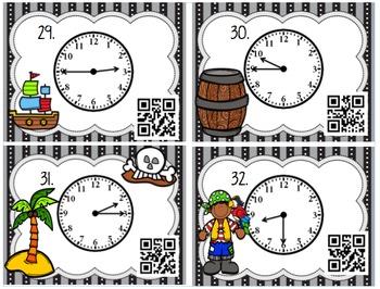 QR Code Math CenterTelling Time to the Hour, Half Hour, Quarter Past, Quarter To