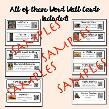QR Coded Word Wall-Early Man