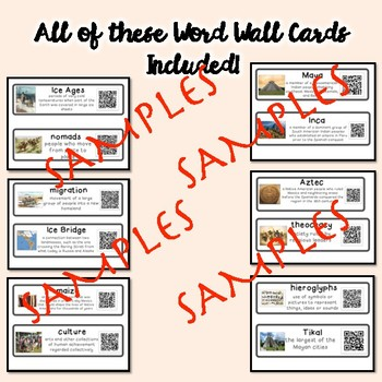 QR Coded Word Wall-First Americans