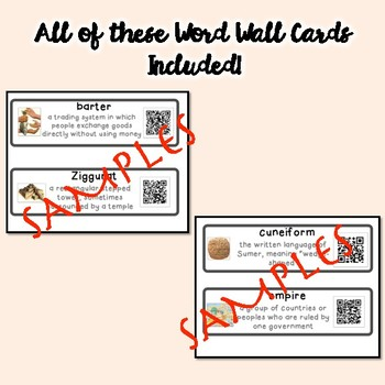 QR Coded Word Wall-Mesopotamia