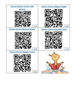 QR Codes - 11 Llama Llama Books