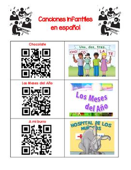 QR Codes - 11 Spanish Songs