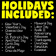 Holiday QR Codes Scavenger Hunt BUNDLE (Earth Day QR Codes and MORE)