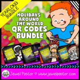 Holiday QR Codes Scavenger Hunt BUNDLE (Earth Day QR Codes