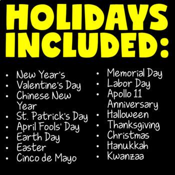 Holidays Around the World QR Codes (w/ Christmas Around the World QR Codes)