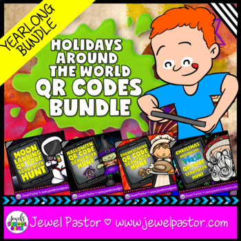 Holiday QR Codes BUNDLE (with Christmas Around the World QR Codes)