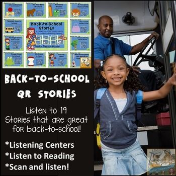 QR Codes - 19 Back-to-school stories *Great for Listening